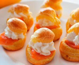 Cream Cheese Salmon Profitroles Recipe ♥ Ultimate Holiday Party Appetizer ♥ Tasty Cooking