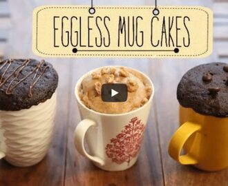 Eggless Mug Cakes Recipe Video