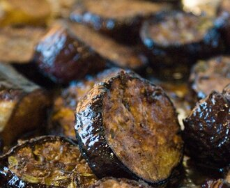 Balsamic Roasted Eggplant. Did someone say yum?