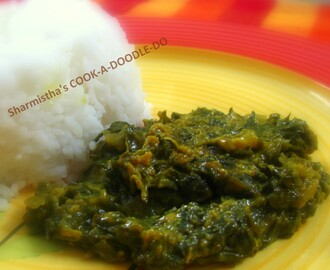 Malai Palak or Spinach in Milk Cream