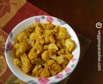 ALOO GOBI STIR FRY | POTATO CAULIFLOWER CURRY