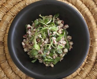 The Wonderful World of Color: Red Corn And Radish Sprout Salad With Peanut Chili Dressing