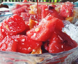 Watermelon Fruit Salad featuring Sparkling Ice