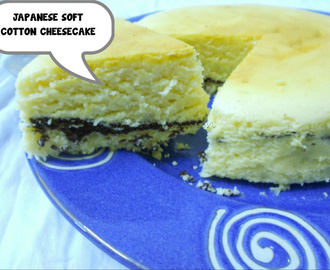 BAKING PARTNERS CHALLENGE-  Chocolate Layered Japanese Soft Cotton Cheesecake