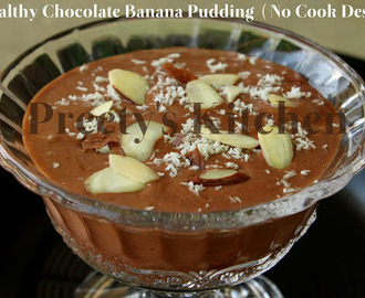 A Healthy Chocolate Banana Pudding  ( No Cook Dessert)