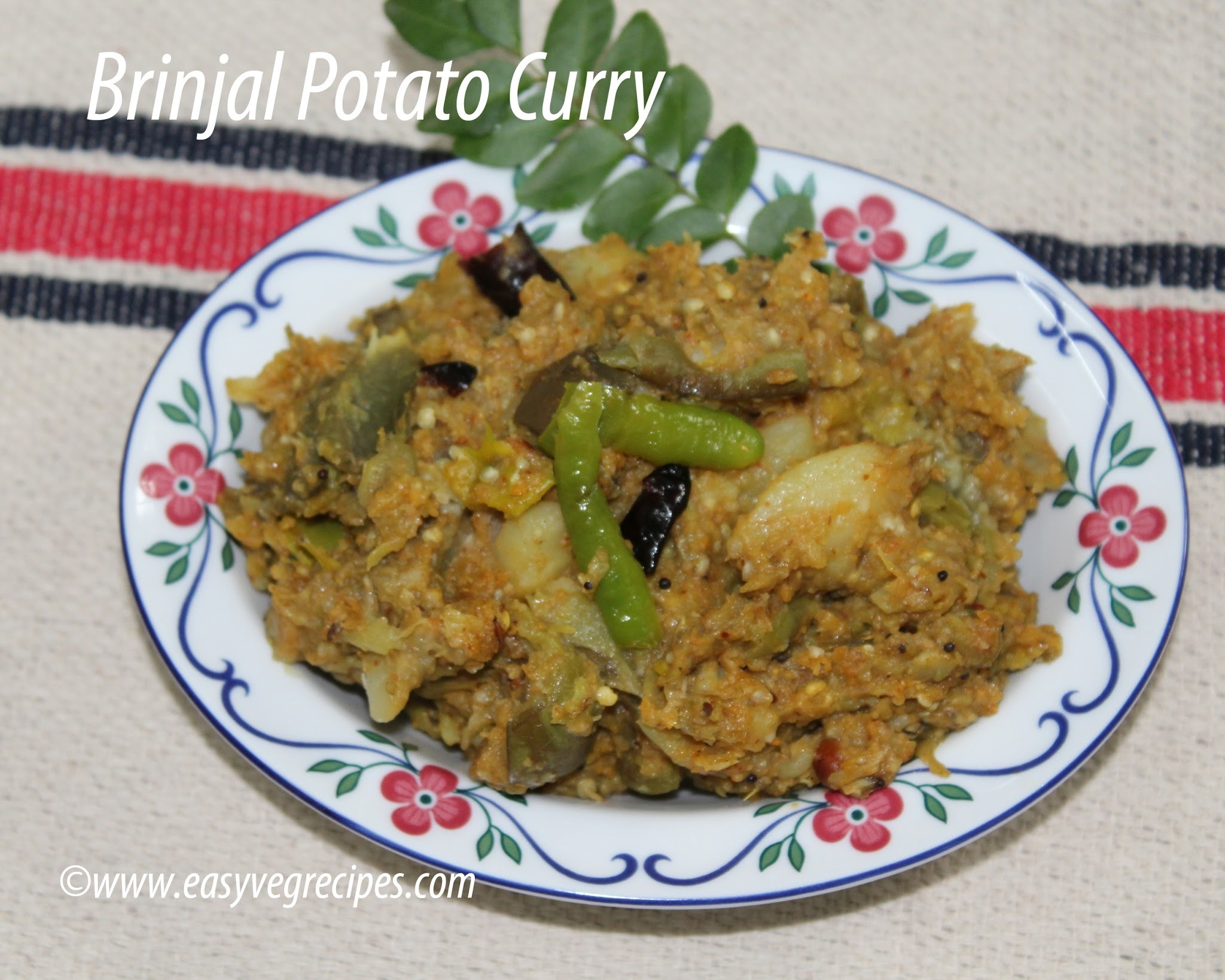 Brinjal Potato Curry Recipe -- How to make Brinjal Potato Curry Andhra Style
