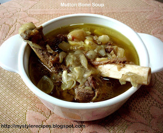 Mutton Leg bone Soup/Aatukaal Elumbu Soup