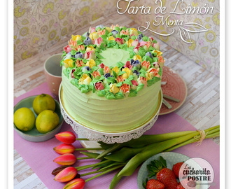 SEGUNDO CUMPLEBLOG: TARTA DE LIMÓN Y MENTA CON BOQUILLAS RUSAS / LEMON AND MINT LAYER CAKE WITH RUSSIAN PIPING TIPS