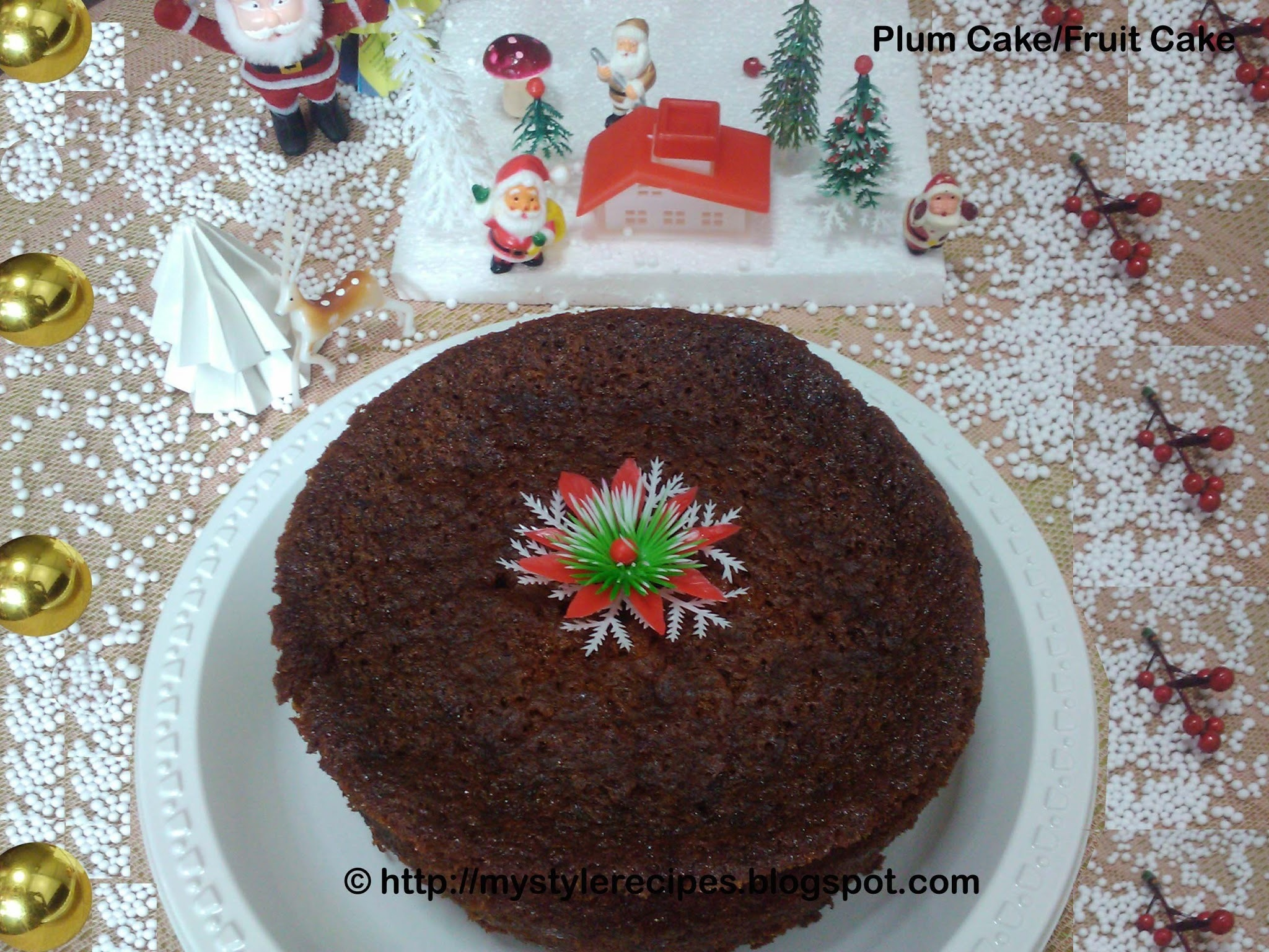 Plum Cake/Fruit Cake - A Christmas Cake Recipe