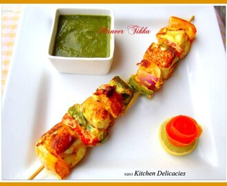 Tawa fried Paneer Tikka