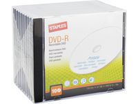 DVD-R STAPLES 4,7GB Jewel Printable10/FP
