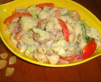 Cold pasta Salad – With White Sauce
