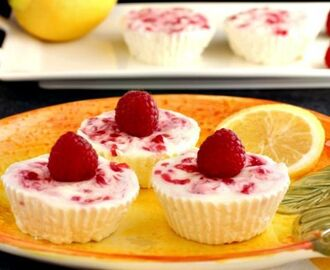 Lemon Raspberry Cheesecake Bites