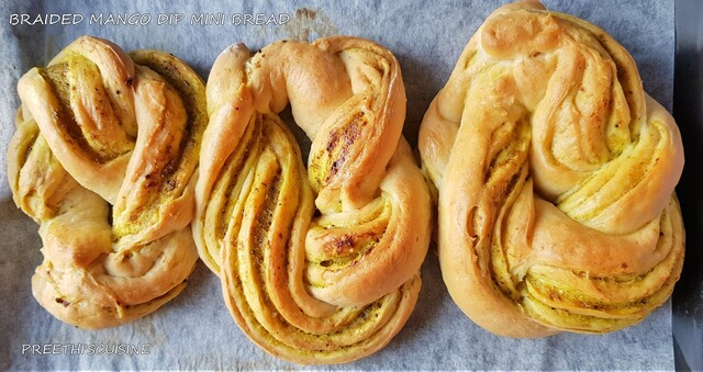 BRAIDED MANGO DIP MINI BREAD(EGGLESS)
