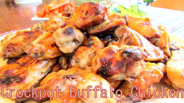 SIMPLE CROCK POT BUFFALO CHICKEN WINGS