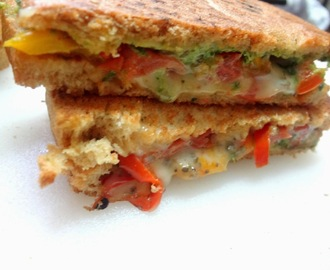 Grilled veg cheese sandwiches   ( kids recipe )