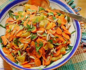 Moroccan Carrot Salad with Oranges Dates and Almonds (Meatless Monday)
