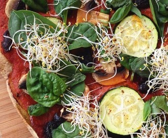 Glutenfri Vegan Pizza