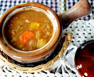 A Menu Planning Challenge, with a lentil soup recipe