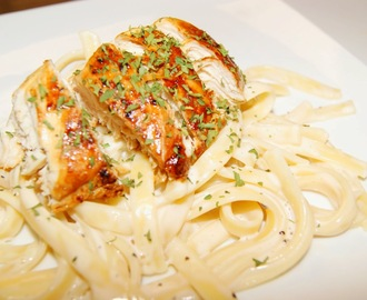 Skinny Fettuccine Alfredo with Chicken
