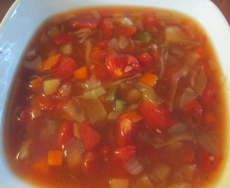 VEGETABLE SOUP WITH DICED TOMATOES