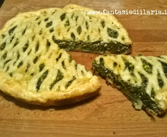 SFOGLIA IN TORTA HOME MADE DI PATATE,PHILADELPHIA LIGHT E SPINACI COTTA IN FORNETTO ESTENSE