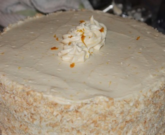 Coconut Carrot Cake with Orange Cream Cheese Frosting