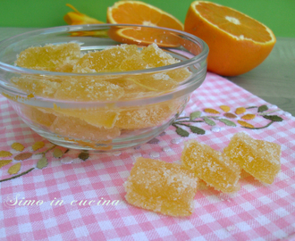Caramelle gel all'arancia