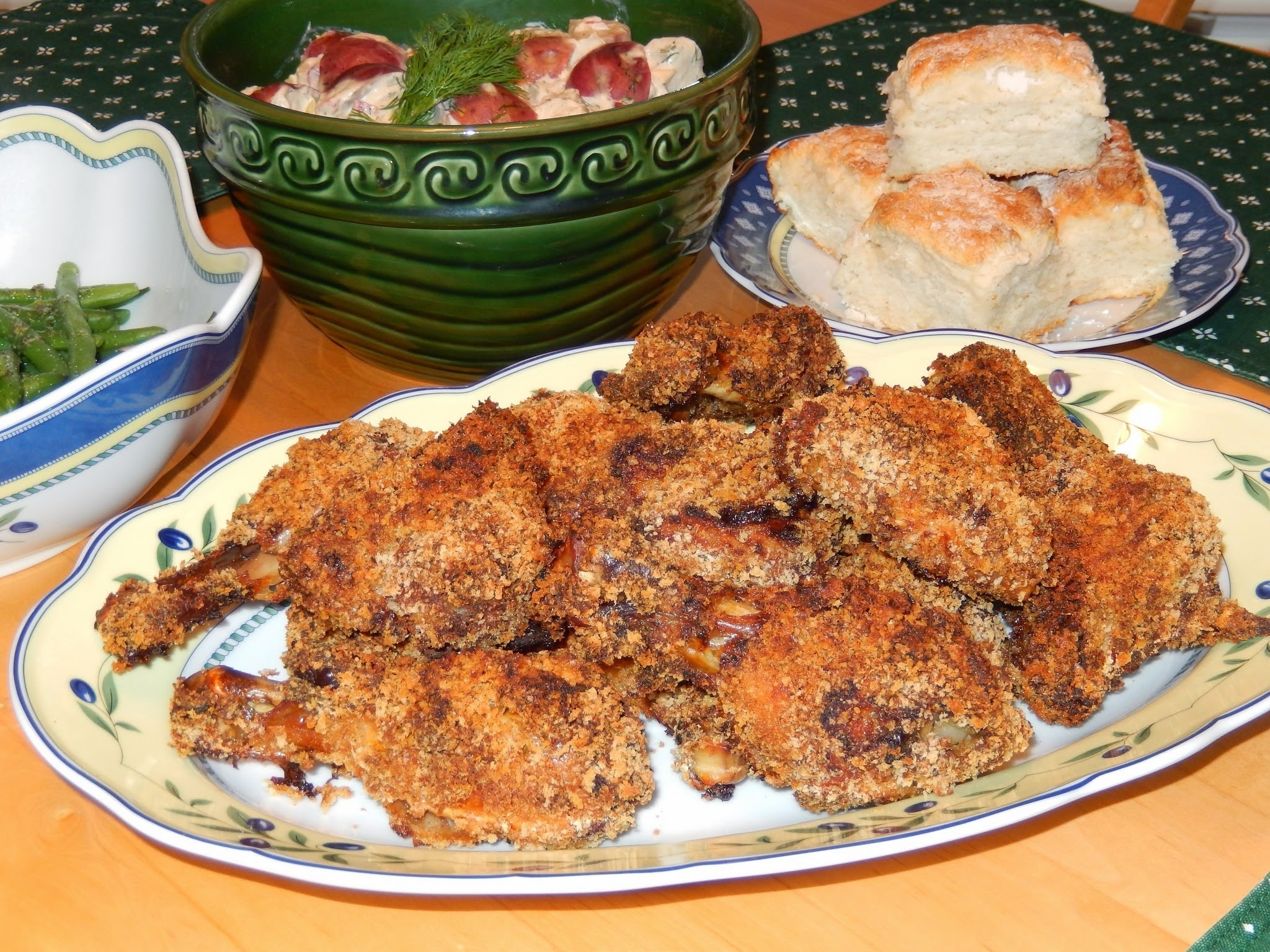 Picnic Chicken aka Crispy Oven-Fried Chicken