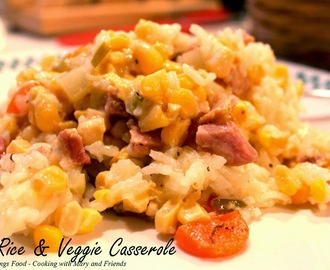 Ham, Rice and Veggie Casserole