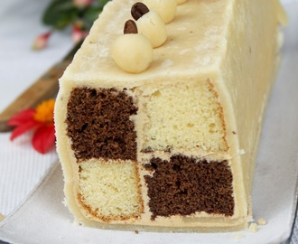 Coffee Battenberg cake – Daring Bakers Challenge, June 2012.