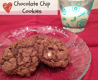Chocolate Oatmeal Chocolate Chip Cookies