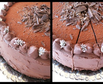 Brown Sugar: Crno bijela b - day cake