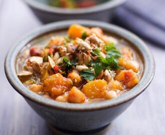 Chunky squash & chickpea soup