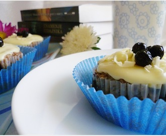 Cupcakes sa borovnicama i belom čokoladom/Blueberry and White Chocolate Cupcakes