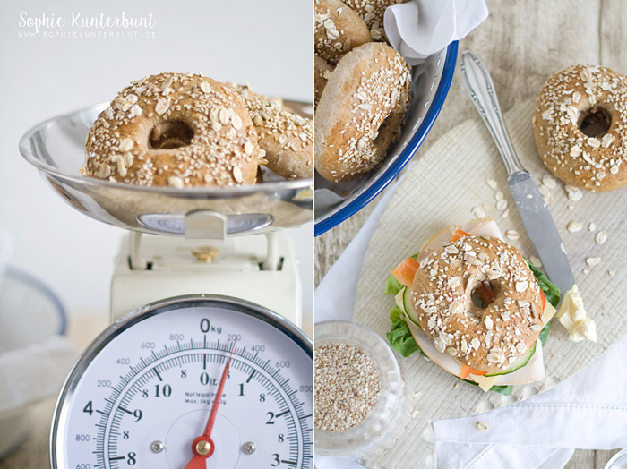 Whole Grain Bagels - Gesunde Snacks