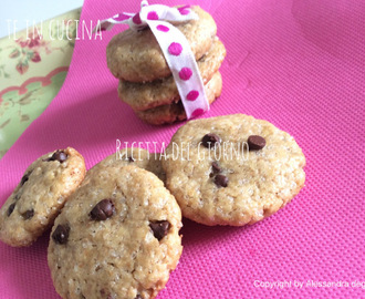COOKIES VEGANI CON GOCCE DI CIOCCOLATO - VEGAN CHOCOLATE COOKIES