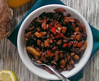 Roasted Pepper and Portobello Relish