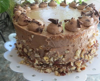Banana Chocolate Hazelnut Caramel Cake