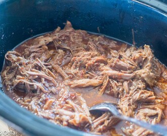 Pulled pork som tacos i Crock pot