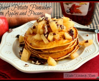 Sweet Potato Pancakes with Apples and Pecans #SRC