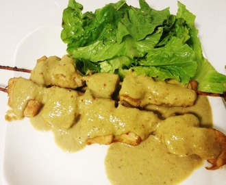 Spiedini di pollo in salsa Satay