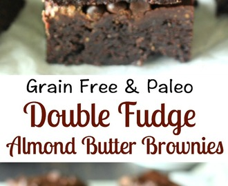 Double Fudge Almond Butter Brownies {Grain Free & Paleo}