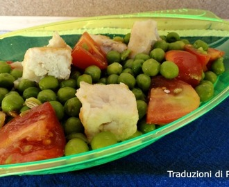 Insalata di merluzzo e piselli (Salad of cod and peas)