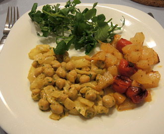 Caril de grão // Chickpeas curry