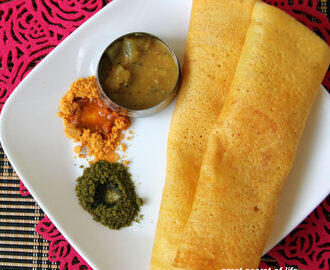 Red Pumpkin Dosa - Parangikai dosai recipe - Parangikai dosa recipe - Healthy dosa recipe - breakfast, dinner recipe