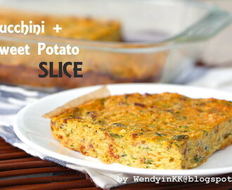Zucchini and Sweet Potato Slice (video)