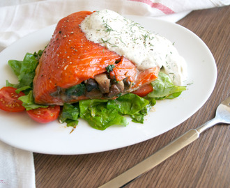 Roasted Stuffed Salmon There's no need to go to an...
