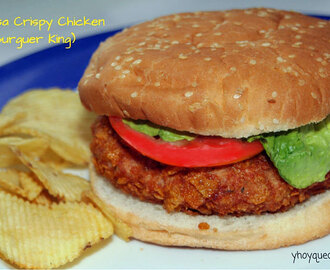 Hamburguesa Crispy Chicken – tipo Burguer King