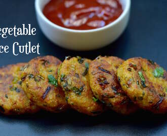 Vegetable Rice Cutlet from Left Over rice|Rice Tikki